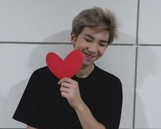 He's so adorable cute ❤u Kim Namjoon, Rapmon, Bts Polaroid, Shy Guy, All Bts Members, Bts Rap Monster, We Are Young, About Bts, Bts Boys