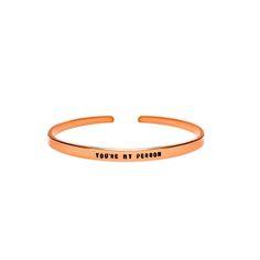 You're My Person Cuff Bracelet - Copper