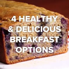 4 Healthy Delicious Breakfasts is part of Yummy healthy breakfast - Best Breakfast, Healthy Breakfast Recipes, Healthy Baking, Brunch Recipes, Dessert Recipes, Breakfast Ideas, Brunch Food, Breakfast Muffins, Breakfast Bake