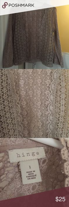 Long sleeve lace top Cream long sleeve lace top. Fits large Hinge Tops