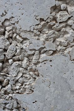 Texture: Deteriorating Concrete with Gravel - Texturen Objekte Staffagen Techniken - Chalky grey texture inspiration; deteriorating concrete exposed to the elements - Texture Design, Texture Art, Visual Texture, Chalk Texture, Texture Images, Organic Forms, Art Grunge, V Ray Materials, Backdrops