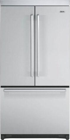Viking refrigerator with ice maker inside.