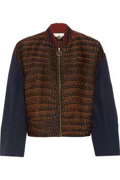 Stella McCartneyFifi croc-effect jacquard jacket