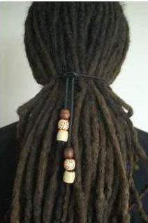 Dreadlock Hair Tie for Dreads Elastic Adjustable with Beads Dread Dreadlock Band