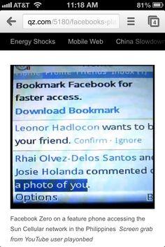Facebook 'Zero' for WAP.