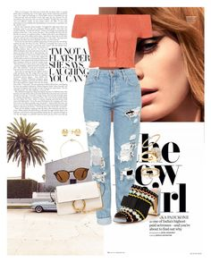 """""""Sin título #1048"""" by soniamariaquiroz on Polyvore featuring moda, River Island, Topshop, Miss KG, Chloé, Jewelonfire, Loren Stewart, Lele Sadoughi, EF Collection y Ray-Ban"""