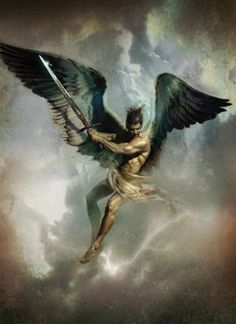 The archangel Gavri'el. Along with Mikha'el, sent to guard the gate between hell and earth.