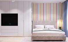 Полосатые обои в родительской спальне Curtains, Bed, Furniture, Home Decor, Homemade Home Decor, Stream Bed, Home Furnishings, Interior Design, Beds