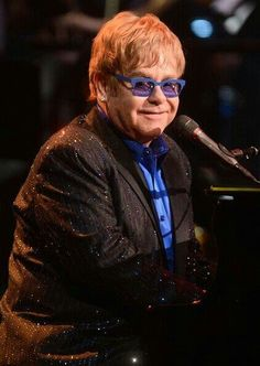 Elton John performs at JACC, South Bend, 1993, Helen, and son Frank, Stage right, excellent concert!