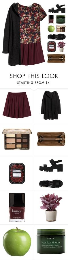 """мιracυloυѕ lιeѕ and weepιng ѕĸιeѕ 🍃"" by thisis2003 ❤ liked on Polyvore featuring Monki, Olive + Oak, H&M, Too Faced Cosmetics, Burberry, Windsor Smith, Butter London, Torre & Tagus, Crate and Barrel and Aveda"