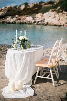 Elegant meets Organic by the Sea in Greece  #eventplanner #wedding #weddingplanneringreece #fairytale #beach #greece #sounio #templeofposeidon #elegant #organic #elegantwedding #organicwedding #olivewedding #oliveoilwedding #olivetheme #drone #table #tablesetting