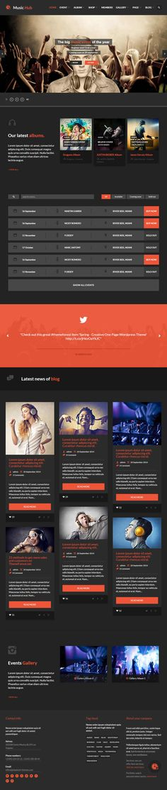 MusicHub is clean and elegant WordPress theme which is develop for music, band, club and party events. This theme is very well customize for music related events. Theme features are ullwidth video background to immediately capture attention, single page layout with parallax scrolling, latest music video with a fullwidth video background, Built for apps designed around music and many others.