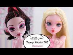 Faceup Tutorial №5 OOAK Draculaura repaint custom doll - YouTube