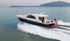 Grand Banks Eastbay 50 SX The new 50 is the first Grand Banks with Volvo Penta's IPS pod drive system it's a departure for a builder with a history in straight-shaft diesels. Standard power is a pair of 600-hp IPS 800s, which should push the boat to 28.9 knots at WOT and 22.5 knots at cruise.