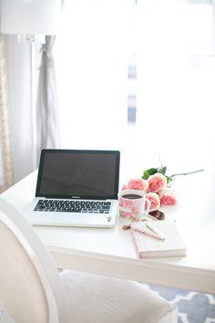 white office desk | by Jenn Best Photography