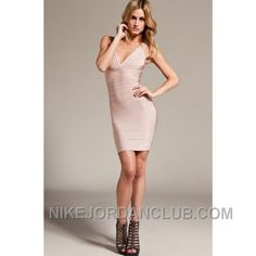 http://www.nikejordanclub.com/herve-leger-nikayla-deep-vneck-nude-bandage-dress-sdr204-free-shipping.html HERVE LEGER NIKAYLA DEEP VNECK NUDE BANDAGE DRESS SDR204 FREE SHIPPING Only $118.00 , Free Shipping!