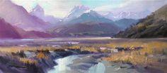"Daily Paintworks - ""Day's End, Dart Beach"" - Original Fine Art for Sale - © Richard Robinson"