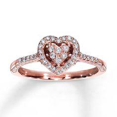 Zales Pink Diamond Promise Ring