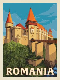 Anderson Design Group – World Travel – Romania Tourism, Romania Travel, Art Deco Posters, Poster Prints, Framed Postcards, Tourism Poster, Travel Wall, Travel Nursery, Beach Travel