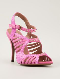 Pink Suede strappy sandals from L Autre Chose featuring an open toe 820809f5d85