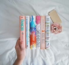 pink & white books by bookstoshelves