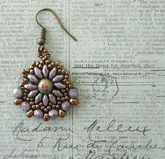 Gypsy Earrings - Rose Gold Topaz Luster