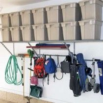 Love the way the shelves can hold so much weight. Custom Garage Storage Solutions: Monkey Bars garage storage and organization (Lodi, Stockton, Concord, Walnut Creek...)