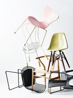 What chair are you? From the August 2015 issue of Inside Out magazine. Styling by Heather Nette King. Photography by Derek Swalwell. New Kitchen, Kitchen Dining, Girls Bedroom, Bedroom Ideas, Interior Styling, Interior Decorating, King Photography, Contemporary Chairs, Comfort Zone