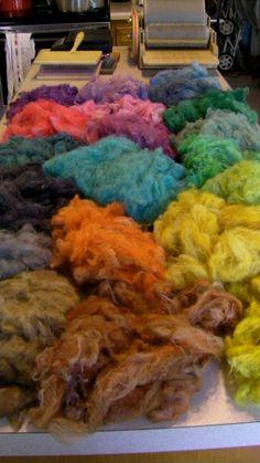 Fiber dyeing