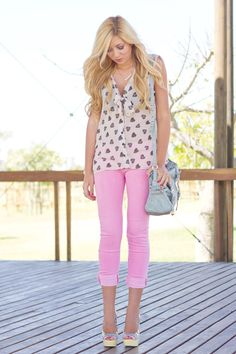 Love this top from Mr. Price in South Africa. And the pink jeans.