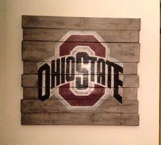 Ohio State University Wall Hanging by PalletsandPaint on Etsy, $40.00