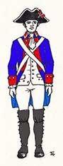 Milicias Disciplinadas de Infantería. Regimiento de Infanteria del Rey 1792 Chile
