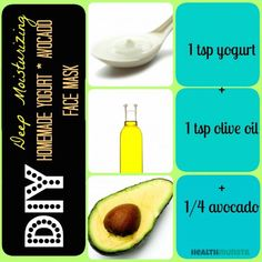 Endless homemade/natural masks. Link to hair mask at bottom of first avocado mask page. Can't wait to try both!