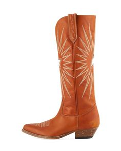 Golden Goose Wish Star Knee-High Cowboy Boot 4cc0e655166