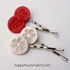 diy hair pins | diy crafts jewelry hair pins bobby pins polymer clay polymer clay hair ...
