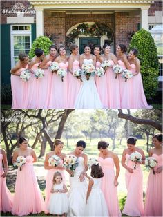 love this bridesmaid dress-bright pink sweetheart bridesmaid dresses
