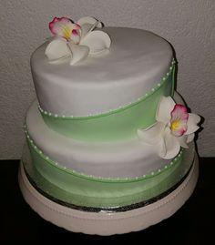 Orchid cake Orchideen Torte light green