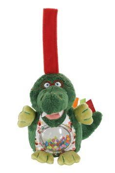 """Z'accroche Grelot Philo le croco de la collection """"Melting'Potes"""" par Latitude Enfant Jouet d'éveil ludique, doudou pour bébé, produit de puericulture. http://www.latitudeenfant.fr/nos-collections/melting-potes/"""