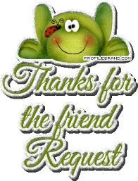 Image result for thanks for the friend request