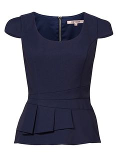 Gabriella Peplum Top - love the extra detailing around the middle Work Fashion, Fashion Outfits, Womens Fashion, Fashion Design, Corporate Attire, Work Wardrobe, Work Attire, Mode Style, African Fashion