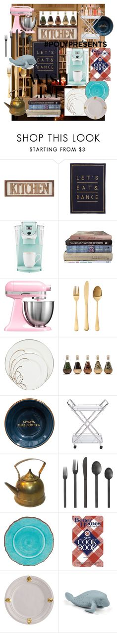 """""""#PolyPresents: Wish List 4"""" by josiehime ❤ liked on Polyvore featuring interior, interiors, interior design, home, home decor, interior decorating, Keurig, KitchenAid, Kate Spade and Zuo"""