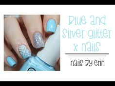 Blue and Silver Glitter X Nails   NailsByErin - http://47beauty.com/nails/index.php/2016/10/12/blue-and-silver-glitter-x-nails-nailsbyerin/  http://47beauty.com/nails/index.php/nail-art-designs-products/  I really love how this mani came out! It has all of my favorite things… A geometric pattern, silver glitter, and light blue! 🙂 I hope you guys like it, too! Read more and see more pictures on my blog here: http://www.nailsbyerin.com/2015/07/blue-and-silver-glitter-x