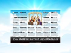 A logical fallacy is a flaw in reasoning. Logical fallacies are like tricks or illusions of thought, and they're often very sneakily used by politicians and the media to fool people. Don't be fooled! This website has been designed to help you identify and call out dodgy logic wherever it may raise its ugly, incoherent head.