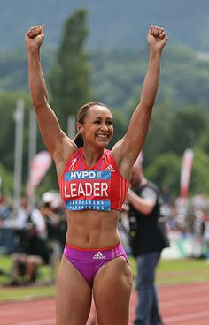 Jessica Ennis of Great Britain celebrates during the Women's Long Jump in the wo. - Jessica Ennis of Great Britain celebrates during the Women's Long Jump in the women's heptathlo - Jess Ennis, Jessica Ennis Hill, Sport Top, Beautiful Athletes, Long Jump, Athletic Girls, Fitness Motivation Pictures, Sporty Girls, Muscle Girls