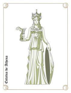 Estatua de Athena by Javiiit0 Conservative Fashion, Serenity, Deviantart, Illustration, Anime, Tattos, Tattoo Ideas, Concept, Knights