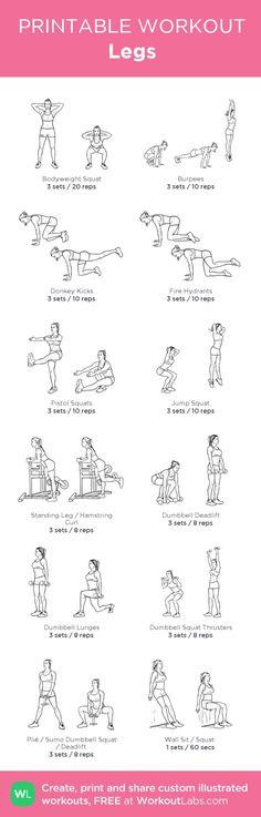 Legs:my custom printable workout by @WorkoutLabs #workoutlabs #customworkout