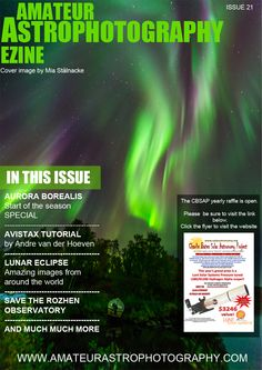 Issue 21 of the Amateur Astrophotography Ezine has been published. http://www.amateurastrophotography.com