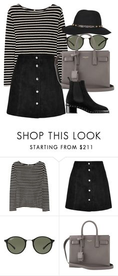 """""""*"""" by fashio-188 ❤ liked on Polyvore featuring R13, IRO, Ray-Ban, Yves Saint Laurent and Gathering Eye"""