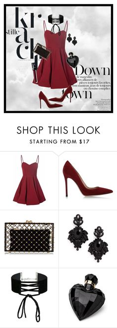 """Maroon"" by j-elizabeth15 ❤ liked on Polyvore featuring Glamorous, Gianvito Rossi, Charlotte Olympia, Tasha, Miss Selfridge, Lipsy and NARS Cosmetics"