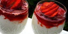 Riskrem med jordbærkompott Stavanger, Frisk, Panna Cotta, Cheesecake, Ice Cream, Pudding, Ethnic Recipes, Desserts, Foods